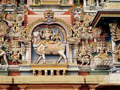 Relief Depicting Shiva and Parvati Riding on Nandi--Giclee Print