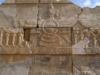 Relief Depicting the God Ahuramazda, Palace of King Darius, Persepolis--Photographic Print