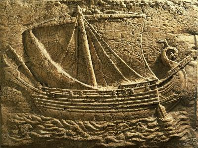 Relief Depicting Trade Ship--Giclee Print