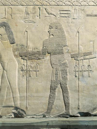 Relief Depicting Water Divinity, from the Funerary Temple of Sahure at Abusir--Giclee Print