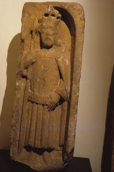 Relief figure of King Olaf, from St. Magnus Cathedral, Kirkwall, Orkney, 20th century-Unknown-Photographic Print