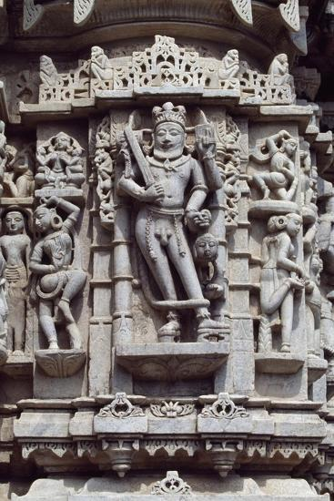 Relief from Chaumukha Jain Temple Dating Back to 1439, Near Ranakpur, Rajasthan, India--Giclee Print