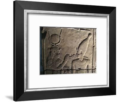 Relief from the inner sanctum of the Temple of Isis, Philae, Egypt-Werner Forman-Framed Photographic Print