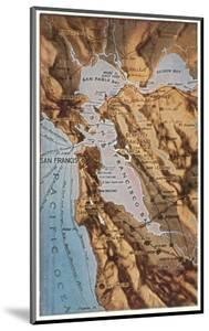Relief Map of Bay Area, San Francisco, California