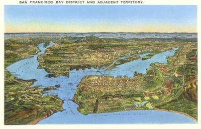 Relief Map of San Francisco, San Francisco, California