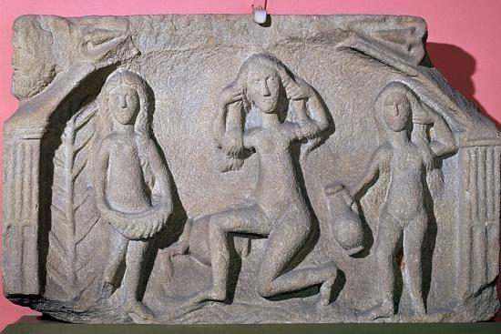 Relief of a Romano-British 'triple goddess', 3rd century. Artist: Unknown-Unknown-Giclee Print