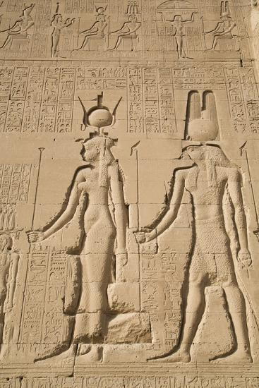 Relief of Cleopatra and Horus, Temple of Hathor, Dendera, Egypt, North Africa, Africa-Richard Maschmeyer-Photographic Print