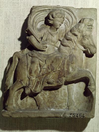 Relief of Epona, Gaulish Goddess, Protector of Horses, Riders and Travellers 50 BC-400 AD--Giclee Print