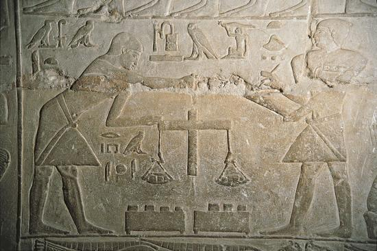 Relief of Goldsmiths Weighing Gold--Giclee Print