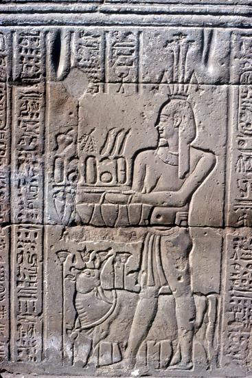 Relief of Hapi (Hapy) god of the Nile in Flood, Temple of Khnum, Ptolemaic & Roman Periods-Unknown-Giclee Print
