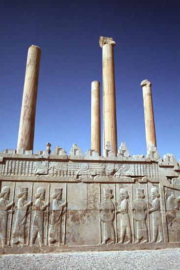 Relief of Medes and Persians, the Apadana, Persepolis, Iran-Vivienne Sharp-Photographic Print