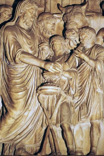 Relief of the Roman emperor Marcus Aurelius making a state sacrifice, 2nd century. Artist: Unknown-Unknown-Giclee Print