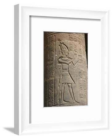 Relief on a column at the Temple of Isis, Philae, Egypt-Werner Forman-Framed Photographic Print