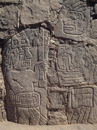 Relief on Stone Depicting Warriors and Severed Hes, from Cerro Sechin Archaeological Site, Peru--Giclee Print