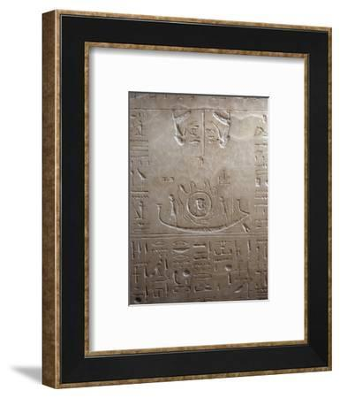 Relief on the lid of the sarcophagus of Sety I, Ancient Egyptian, 19th dynasty, 1290-1279 BC-Werner Forman-Framed Photographic Print