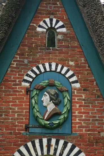 Relief over the Door of a Captain's House at the Frachtenstegelk at Keitum on the Island of Sylt-Uwe Steffens-Photographic Print