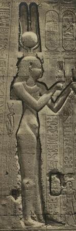 Relief Sculpture of Cleopatra VII and her Son by Julius Caesar, Temple of Hathor, Dendera, 35 BC