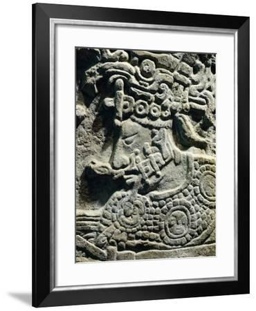 Relief Showing a Head of a Priest, Artifact Originating from an Architrave 53, Yaxchilan--Framed Giclee Print