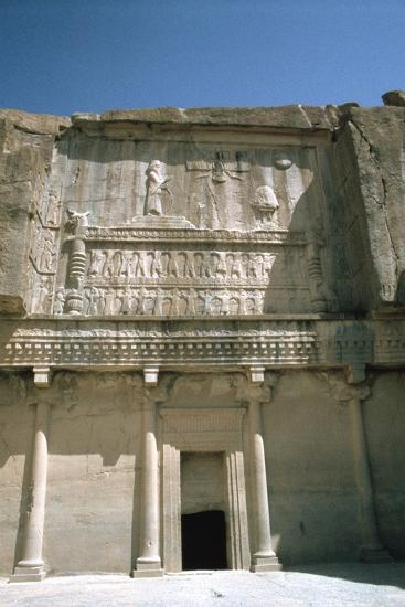 Relief, Tomb of Artaxerxes Ii, Persepolis, Iran-Vivienne Sharp-Photographic Print