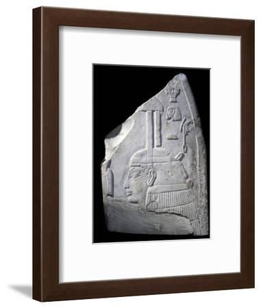 Relief with depiction of a goddess, Ancient Egyptian, New Kingdom-Werner Forman-Framed Photographic Print