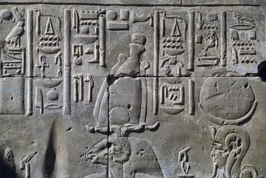 Relief with Hieroglyphics--Giclee Print
