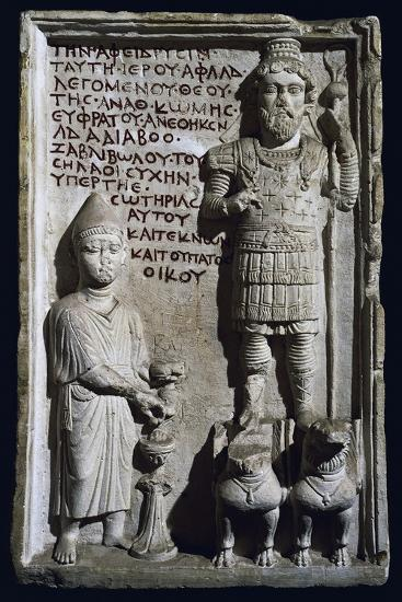 Relief with Inscription and Depiction of God Aphlad from Damascus, Syria--Giclee Print
