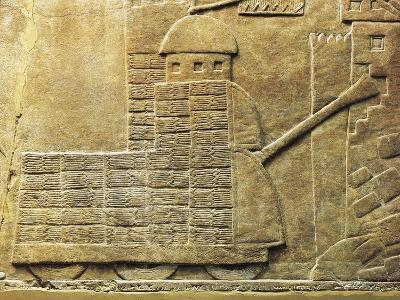 Relief with War Machine, from Ancient Nineveh, Iraq--Giclee Print