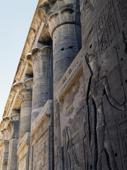 Reliefs and Capitals from Trajan's Kiosk, Philae Temple Complex--Photographic Print