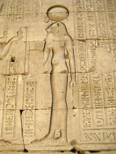 Reliefs of the Lion Goddess Sekhmet Holding the Ankh, Symbol of Life--Giclee Print