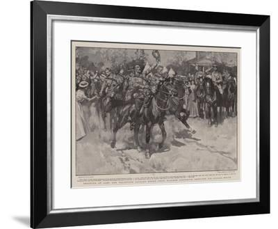 Relieved at Last, the Volunteer Cavalry Which First Reached Ladysmith Cheering Sir George White-Frank Craig-Framed Giclee Print
