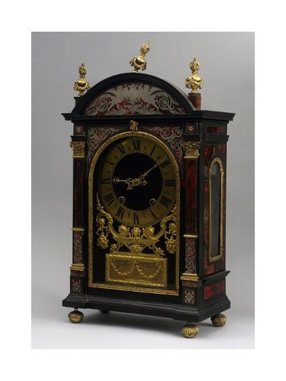 Religieuse Clock, Ebony Clock with Boulle Decorations, Gaudron, Paris, France, Ca 1690--Giclee Print
