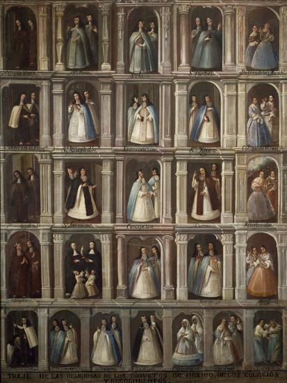 Religious Attire of Neo-Hispanic Convents--Giclee Print