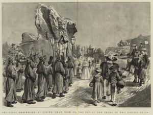 Religious Procession at Cimies, Near Nice, on the Day of the Feast of the Annunciation