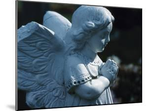 Religious Stone Carving of Angel