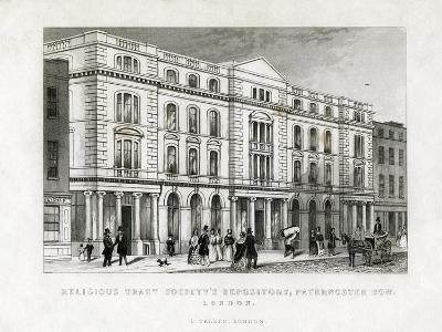 Religious Tract Society's Repository, Paternoster Row, London, 19th Century--Giclee Print