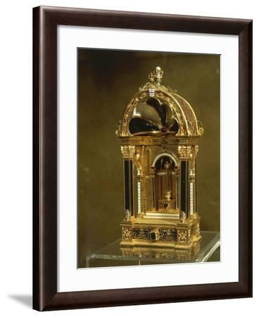 Reliquary in Gold, Enamel, Rock Crystal, Emeralds and Rubies, from Madre De Deus Convent, Lisbon--Framed Giclee Print