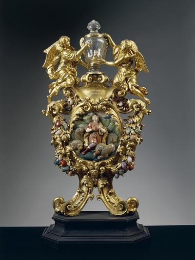 Reliquary of Saint Daniel in Silver, Gilded Bronze, Ebony and Pietre Dure, Height 68 Cm, 1705--Giclee Print