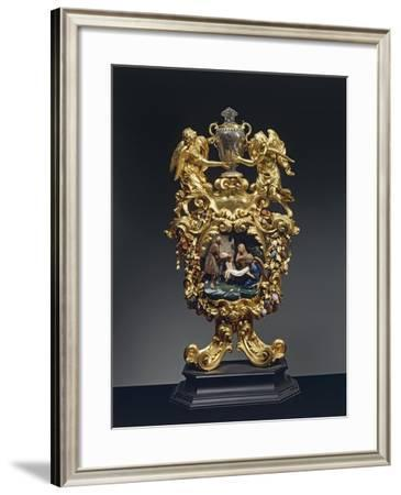Reliquary of Saint Mary of Egypt in Gilded Bronze, Ebony and Pietre Dure, Height 68 Cm, 1704--Framed Giclee Print