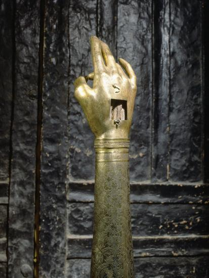 Reliquary of the hand of St John the Baptist, possibly Byzantine-Werner Forman-Photographic Print