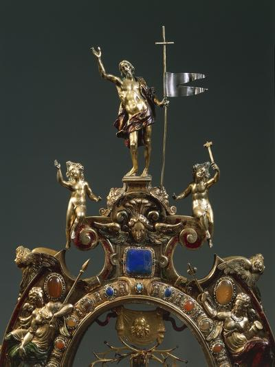 Reliquary of the Holy Cross, in Gilded Silver Set with Pietre Dure by Cosimo Merlini--Giclee Print