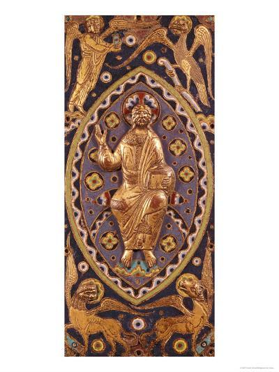 Reliquary Plaque Depicting Christ with the Symbols of the Evangelists--Giclee Print