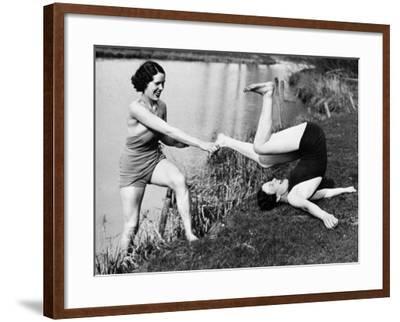 Reluctant Swimmer--Framed Photographic Print