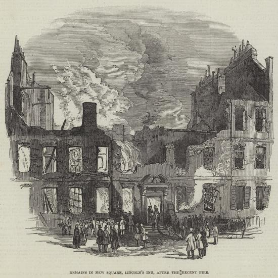 Remains in New Square, Lincoln's Inn, after the Recent Fire--Giclee Print