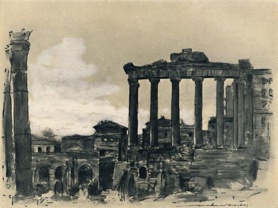 'Remains of Ancient Rome', 1903-Mortimer L Menpes-Giclee Print