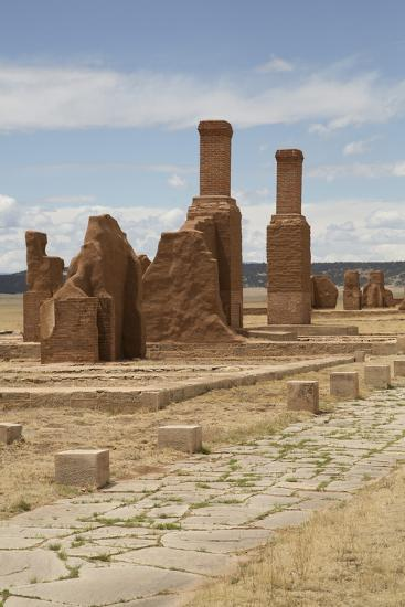 Remains of Buildings at Fort Union National Monument-Richard Maschmeyer-Photographic Print