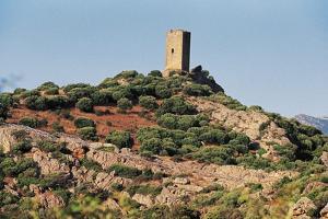 Remains of Doria Castle, 12th Century, Near Santa Maria Coghinas, Sardinia, Italy