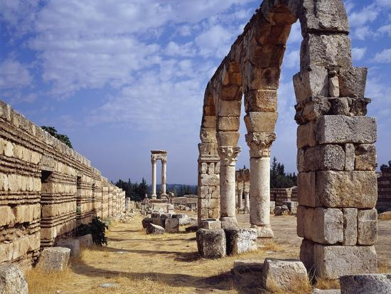 Remains of Portico of Cardo Maximus from Umayyad City Built by Caliph Al-Walid I--Photographic Print