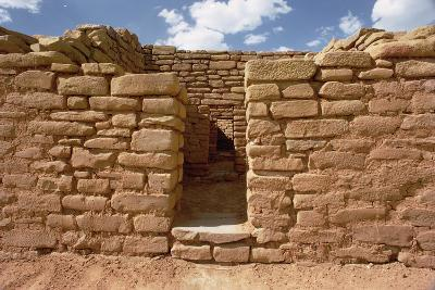 Remains of Pueblo Indian Dwellings, Built 11th-14th Century--Photographic Print