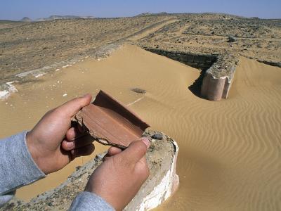 Remains of Roman Farm with Wine Cisterns, El Heiz, Giza, Egypt--Giclee Print