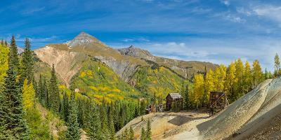 Remains of Silver Mining in Red Mountain Mining District along U.S. Route 550, Colorado, USA--Photographic Print